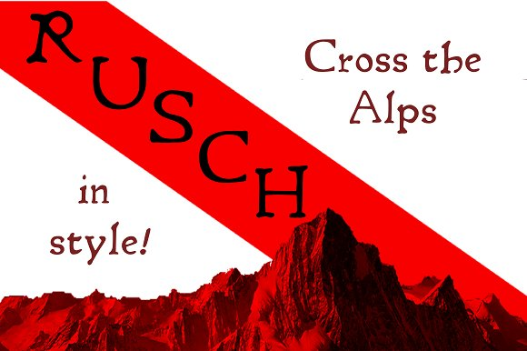 Print on Demand: Rusch Serif Font By Proportional Lime