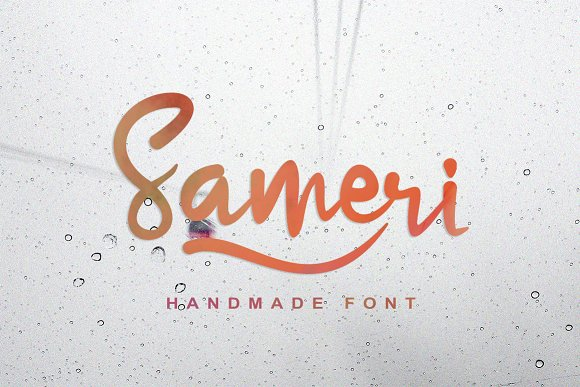 Print on Demand: Sameri Script & Handwritten Font By Ijem RockArt