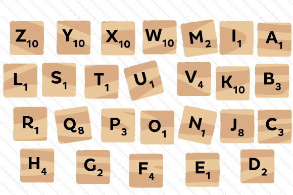 Scrabble/Scribble Set Wood