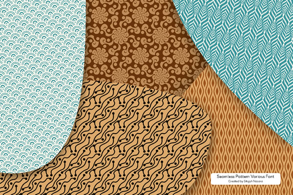 Print on Demand: Seamless Patterns Font Dingbats Font By Situjuh - Image 1
