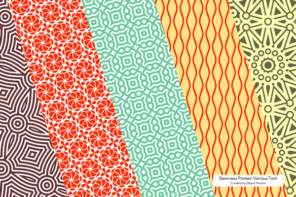 Print on Demand: Seamless Patterns Font Dingbats Font By Situjuh - Image 4