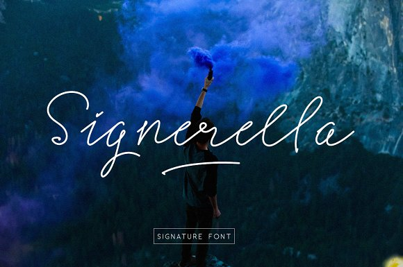 Print on Demand: Signerella Script & Handwritten Font By letterhend