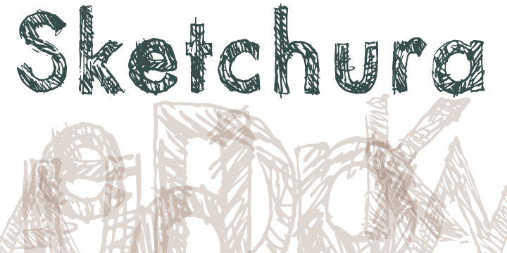 Print on Demand: Sketchura Display Font By Rocket Type