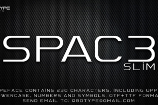 Spac3 Slim Font By Qbotype Fonts