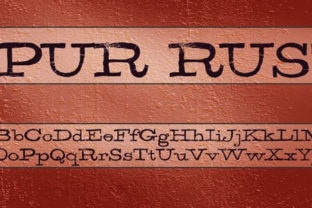 Spur Rust Font By Rocket Type