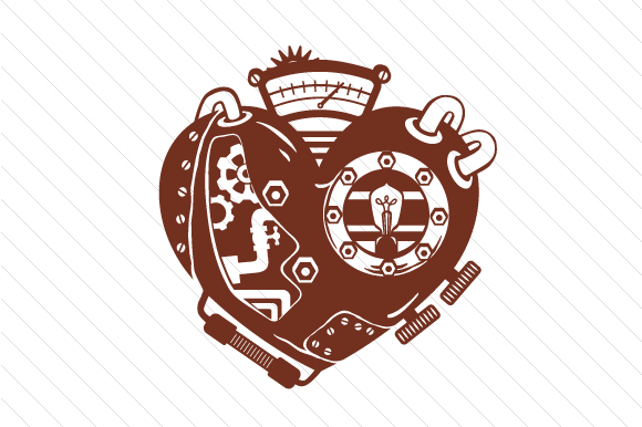Download Free Steampunk Heart Svg Cut File By Creative Fabrica Crafts for Cricut Explore, Silhouette and other cutting machines.