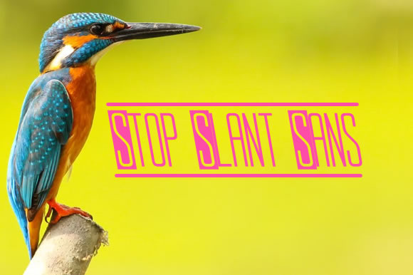 Print on Demand: Stop Slant Sans Sans Serif Font By jeffbensch