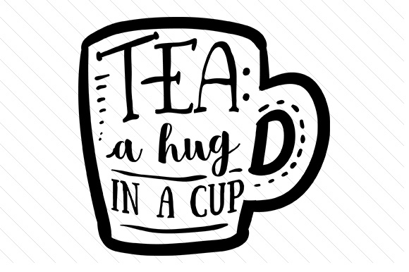 Download Free Tea A Hug In A Cup Svg Plotterdatei Von Creative Fabrica for Cricut Explore, Silhouette and other cutting machines.