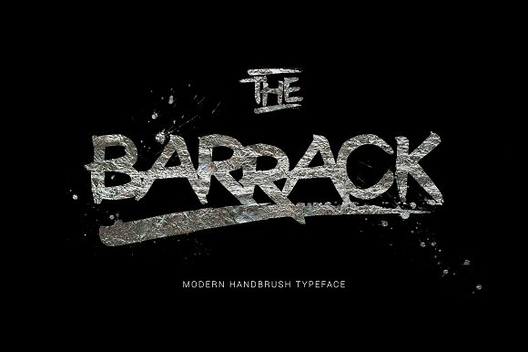 The Barrack Display Font By Thirtypath