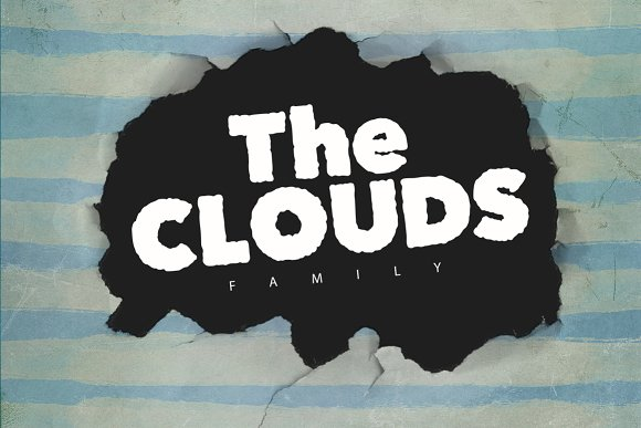 Print on Demand: The Clouds Display Font By SmartDesigns