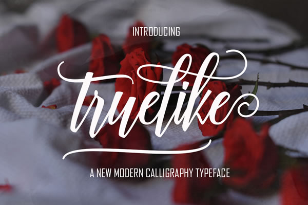 Print on Demand: Truelike Script & Handwritten Font By Polem - Image 1
