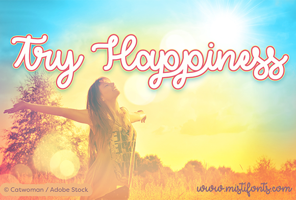 Print on Demand: Try Happiness Script & Handwritten Font By Misti