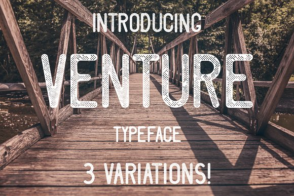 Print on Demand: Venture Sans Serif Font By Mike Hill