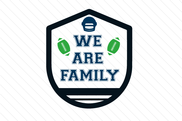 We Are Family Football Sports Craft Cut File By Creative Fabrica Crafts - Image 1
