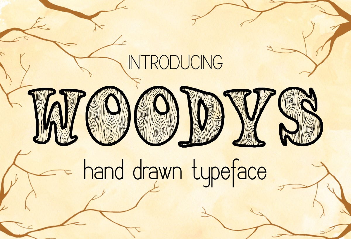 Print on Demand: Woodys Display Font By Eva Barabasne Olasz