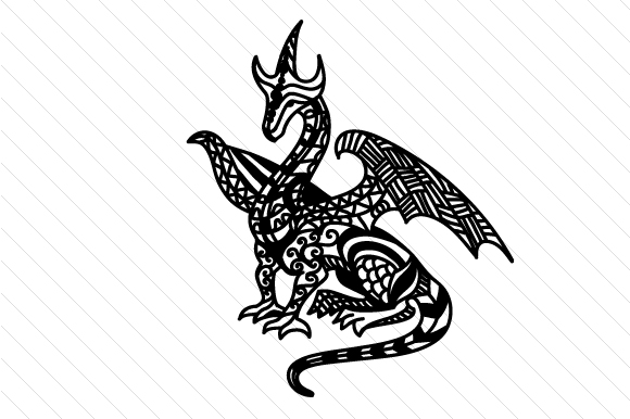 Download Free Zentangle Dragon Svg Cut File By Cut Cut Palooza Creative Fabrica SVG Cut Files