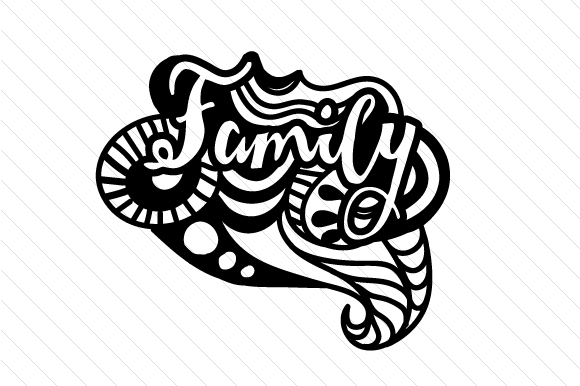 Download Free Zentangle Family Svg Cut File By Creative Fabrica Crafts for Cricut Explore, Silhouette and other cutting machines.