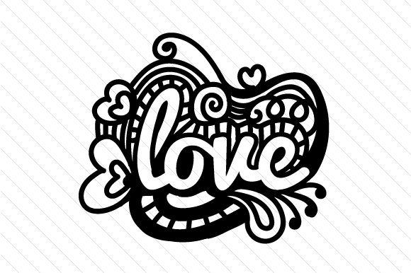 Download Free Zentangle Love Svg Cut File By Creative Fabrica Crafts for Cricut Explore, Silhouette and other cutting machines.