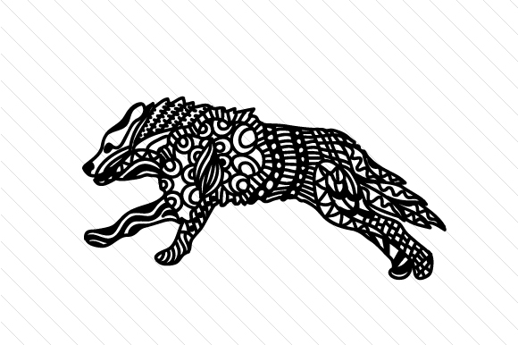 Download Free Zentangle Wolf Running Svg Plotterdatei Von Cut Cut Palooza SVG Cut Files