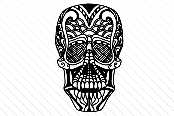 Download Free Zentangle Skull Svg Cut File By Creative Fabrica Crafts for Cricut Explore, Silhouette and other cutting machines.