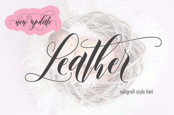 Print on Demand: Leather Script & Handwritten Font By Sinfa.co