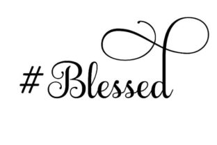 #Blessed Hashtag # Craft Cut File By Creative Fabrica Crafts