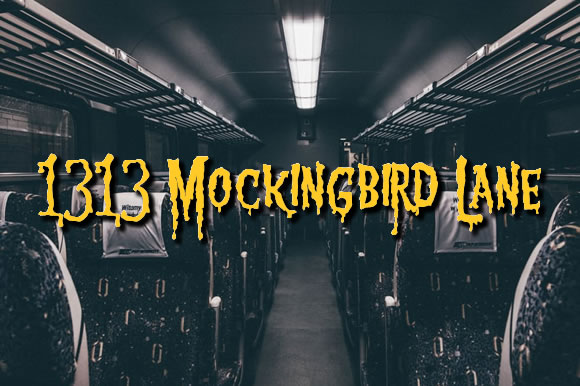Print on Demand: 1313 Mockingbird Lane Free Font Font By jeffbensch