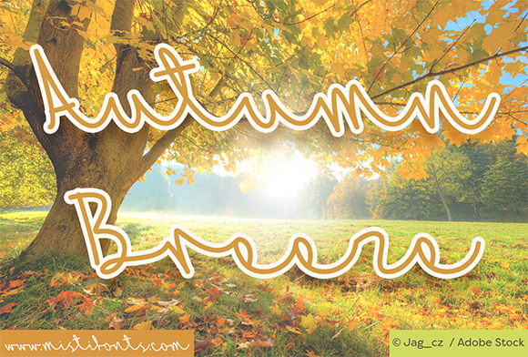 Print on Demand: Autumn Breeze Script & Handwritten Font By Misti