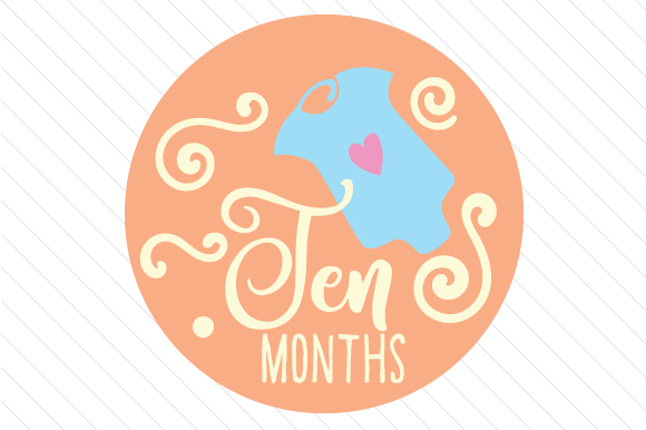 Babies First Year - Set of Monthly Baby Stickers Kids Craft Cut File By Creative Fabrica Crafts - Image 11