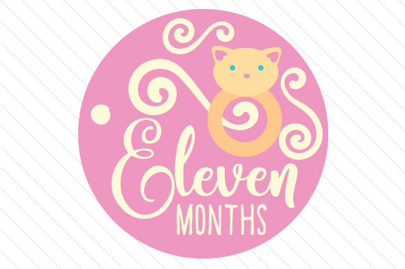 Babies First Year - Set of Monthly Baby Stickers Kids Craft Cut File By Creative Fabrica Crafts - Image 12