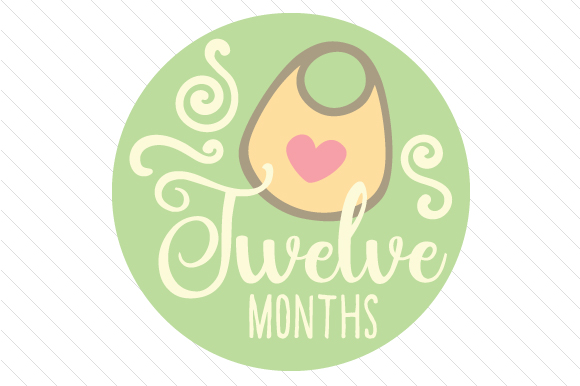 Babies First Year - Set of Monthly Baby Stickers Kids Craft Cut File By Creative Fabrica Crafts - Image 13
