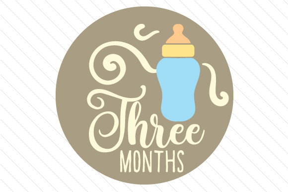 Babies First Year - Set of Monthly Baby Stickers Kids Craft Cut File By Creative Fabrica Crafts - Image 4