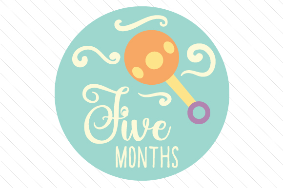 Babies First Year - Set of Monthly Baby Stickers Kids Craft Cut File By Creative Fabrica Crafts - Image 6