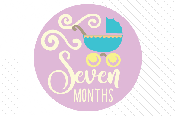 Babies First Year - Set of Monthly Baby Stickers Kids Craft Cut File By Creative Fabrica Crafts - Image 8