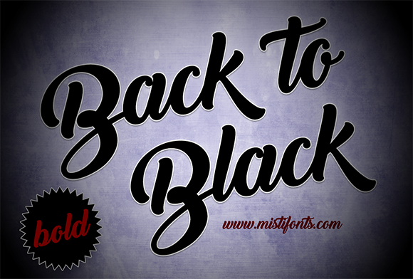Print on Demand: Back to Black Script & Handwritten Font By Misti