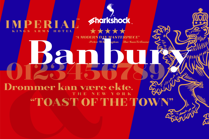 Banbury Font By Sharkshock Image 1