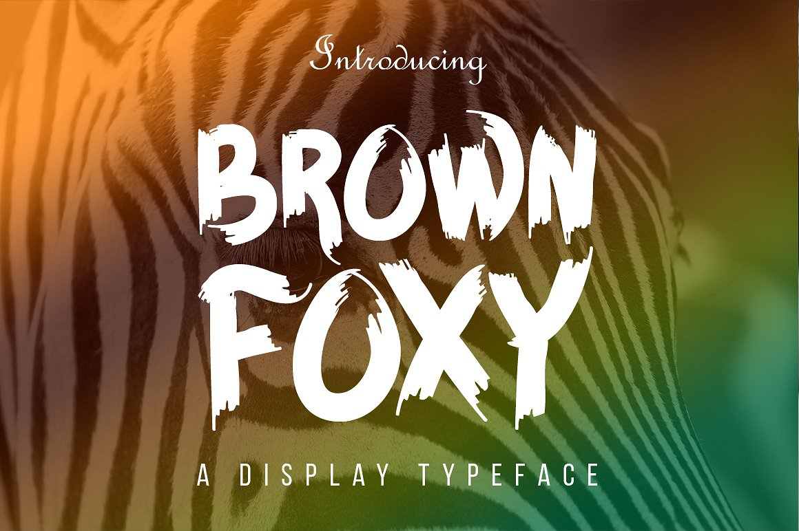 Print on Demand: Brown Foxy Display Font By Contour Fonts