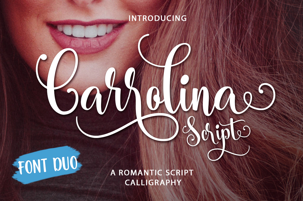 Print on Demand: Carrolina Script & Handwritten Font By Mercurial