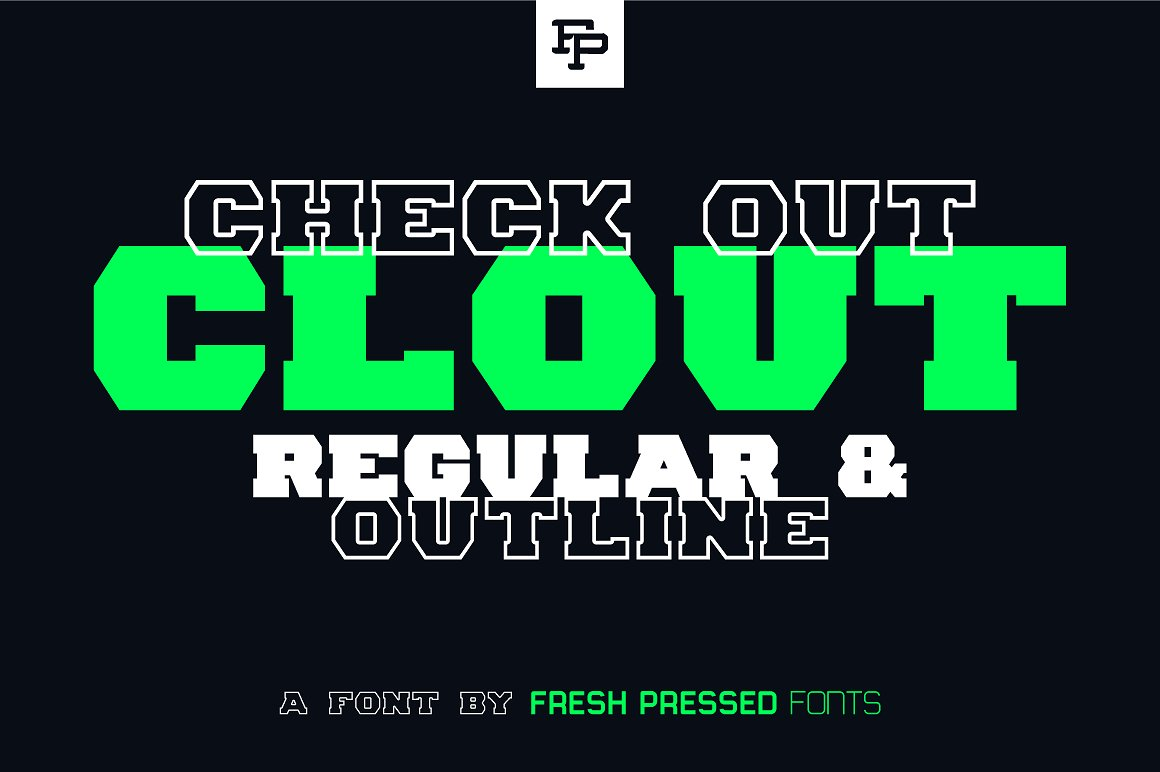 Print on Demand: Clout Display Font By Fresh Pressed Fonts