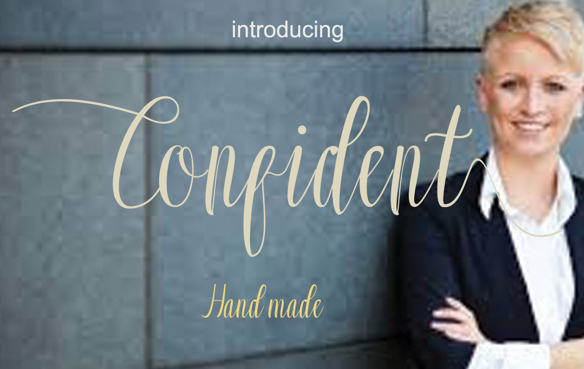 Print on Demand: Confident Script & Handwritten Font By Sinfa.co