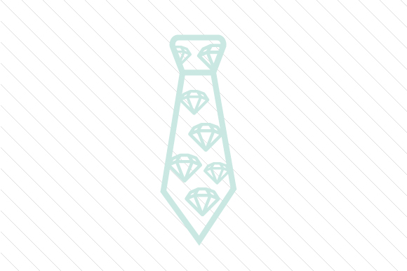 Diamonds Patterned Necktie Designs & Drawings Craft Cut File By Creative Fabrica Crafts