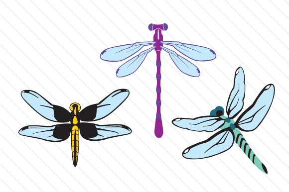 Download Free Dragonflies Clipart Set Svg Cut File By Creative Fabrica Crafts for Cricut Explore, Silhouette and other cutting machines.