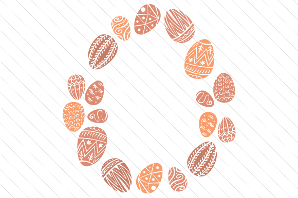 Easter Egg Wreath Easter Craft Cut File By Creative Fabrica Crafts