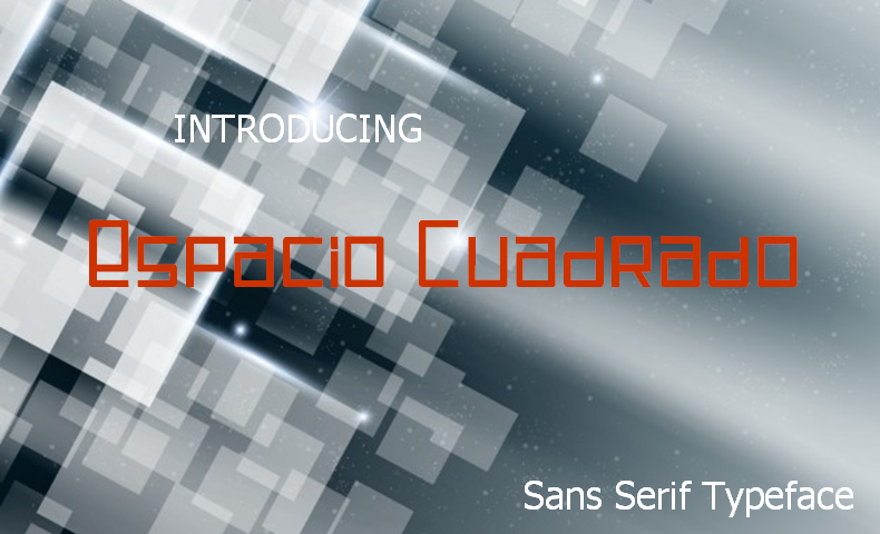 Print on Demand: Espacio Cuadrado Sans Serif Font By Jaime Rangel Castro