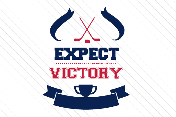 Expect Victory Hockey Sports Craft Cut File By Creative Fabrica Crafts - Image 1