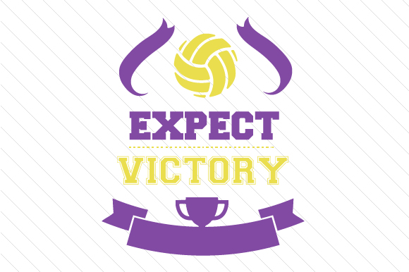 Expect Victory Volleyball Sports Craft Cut File By Creative Fabrica Crafts - Image 1