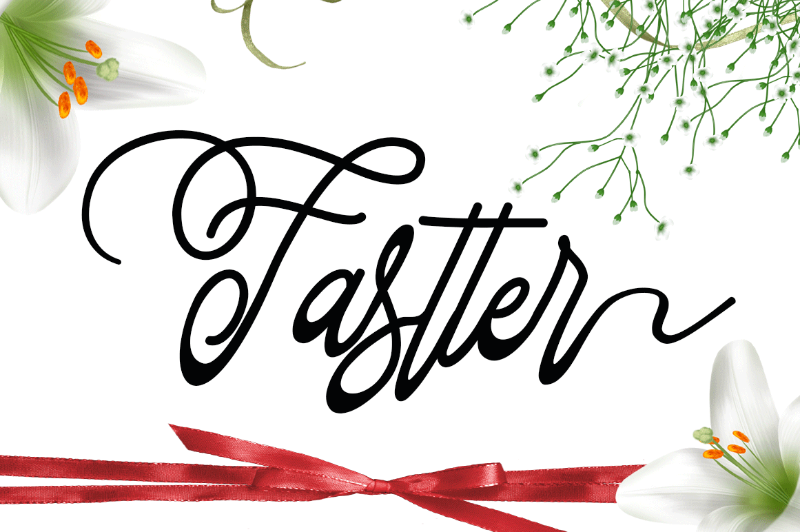 Print on Demand: Fastter Script & Handwritten Font By Sinfa.co