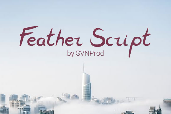 Print on Demand: Feather Script Font By Creative Fabrica Freebies