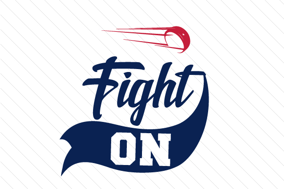 Fight on Hockey Sports Craft Cut File By Creative Fabrica Crafts - Image 1