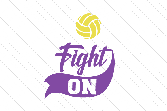 Fight on Volleyball Sports Craft Cut File By Creative Fabrica Crafts